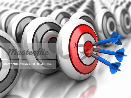 3d achievement: darts in bullseye with grey dartboards