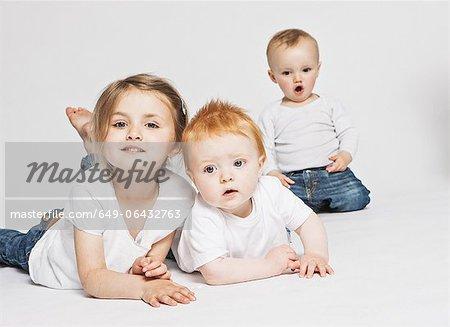 Children posing together
