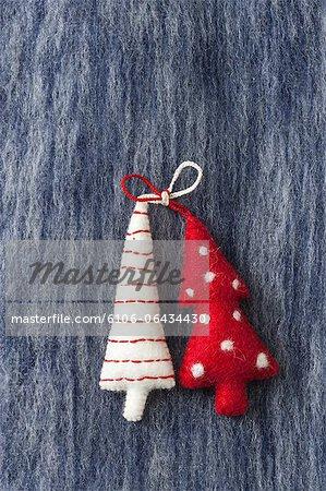 Décorations d'arbre de Noël de tissu