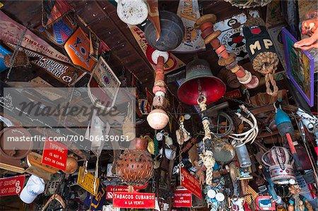 Ceiling in Charlie's Bar, Aruba, Leeward Antilles, Lesser Antilles, Caribbean