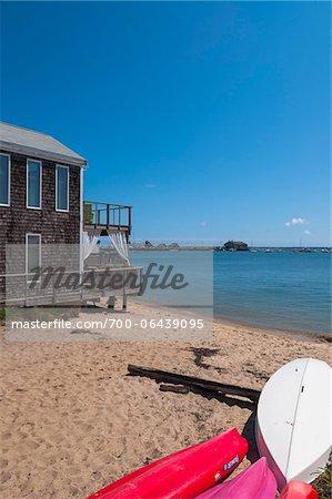 Kayaks on Beach, Provincetown, Cape Cod, Massachusetts, USA