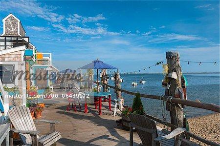 Pattio Furniture on Terrace, Provincetown, Cape Cod, Massachusetts, USA