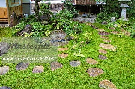 Traditional Japanese garden in Takayama, Gifu Prefecture