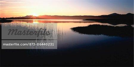 Lagune au coucher du soleil Sedgefield, Afrique du Sud