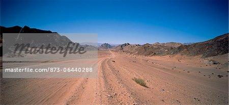 Chemin de terre Richtersveld, Northern Cape en Afrique du Sud