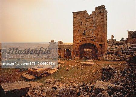 Ruines byzantines de la Syrie de Jerada