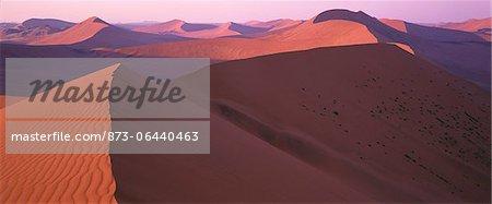 Overview of Sand Dunes Namib Desert, Naukluft Park Sossusvlei, Namibia, Africa