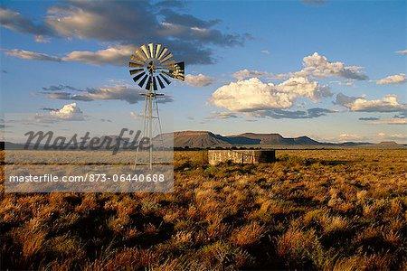 Moulin à vent à Karoo, Afrique du Sud