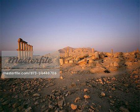 Les ruines de Palmyre République arabe syrienne