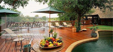 Poolside Patio, Southern Sun Hotel and Resort, Praslin Island, Seychelles