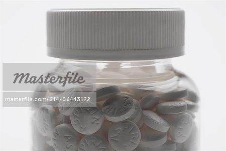 Bouteille d'aspirine