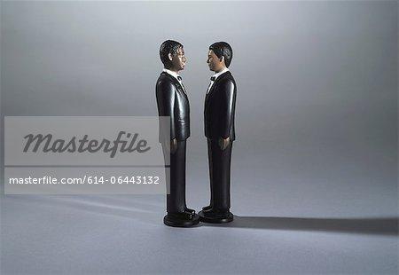 Multi ethnic wedding figurines