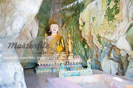 Large Buddha at Tham Sang Caves, Vang Vieng, Laos, Indochina, Southeast Asia, Asia
