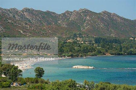 La Plage de la Roya près de St. Florent, dans la région du Nebbio Corse, Méditerranée, Europe