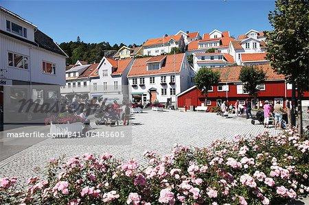 Centre-ville, Kragero, Telemark, Norvège du Sud, Norvège, Scandinavie, Europe