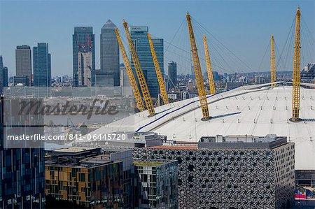 O2 Arena, de Canary Wharf, Londres, Royaume-Uni, Europe