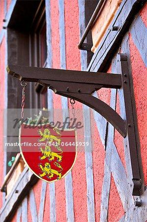 Emblème de la Normandie, Norman typique maison, Honfleur, Calvados, France, Europe