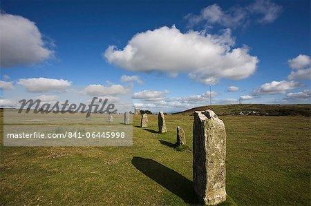 La maladie de hurler (cercle de pierres), serviteurs, Bodmin Moor, Cornwall, Angleterre, Royaume-Uni, Europe