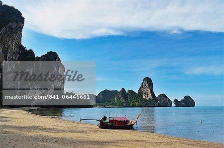 Baie de ton Sai, Rai Leh (Railay), Côte d'Andaman, Province de Krabi, Thaïlande, Asie du sud-est, Asie