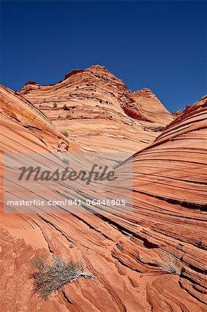 Mini Wave Bildung, Coyote Buttes Wilderness, Vermillion Cliffs National Monument, Arizona, Vereinigte Staaten von Amerika, Nordamerika