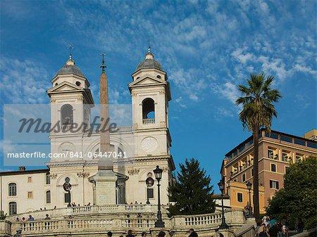 L'église de la Trinita dei Monti, Rome, Lazio, Italie, Europe