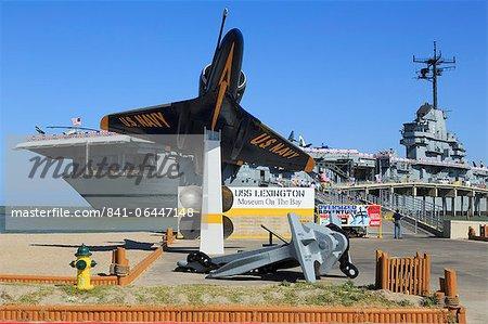 USS Lexington Museum sur la baie, North Beach, Corpus Christi, Texas, États-Unis d'Amérique, North America