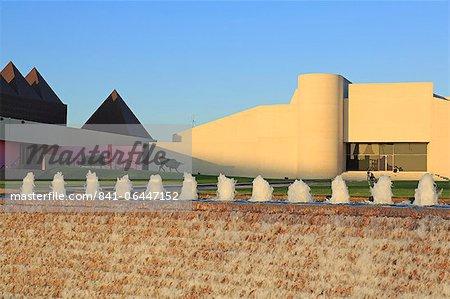 Fontaine et Musée d'Art du sud du Texas, Corpus Christi, Texas, États-Unis d'Amérique, l'Amérique du Nord