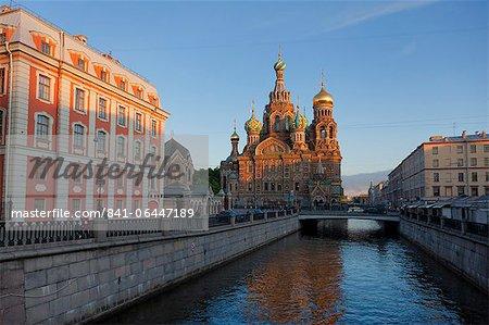 Église de sang répandu, patrimoine mondial UNESCO, Kanal Griboedova, Saint-Pétersbourg, Russie, Europe