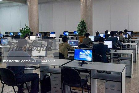 Großen Menschen Study House, Computer Intranet Klassenzimmer, Pjöngjang, Demokratische Volksrepublik Korea (DVRK), Nordkorea, Asien