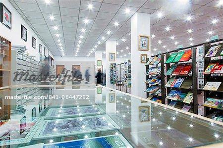 Innenraum eines Stempels shop, Pjöngjang, Demokratische Volksrepublik Korea (DVRK), North Korea, Asien