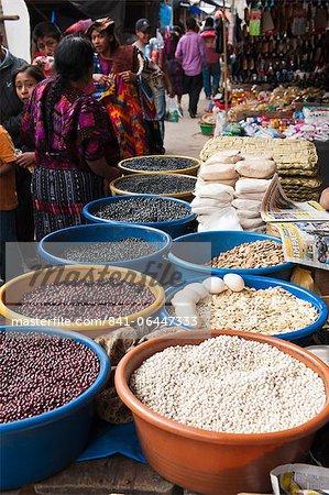 Beans for sale, Chichicastenango, Guatemala, Central America