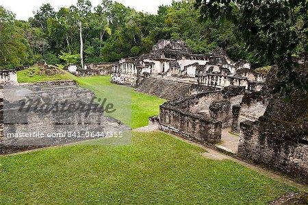 Parc National de Tikal (Parque Nacional Tikal), l'UNESCO World Heritage Site, Guatemala, Amérique centrale