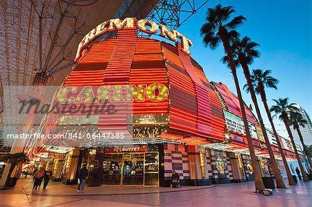 Casino de Fremont et l'expérience de Fremont Street, Las Vegas, Nevada, États-Unis d'Amérique, l'Amérique du Nord