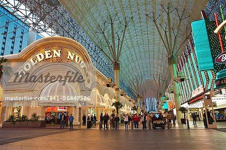 Golden Nugget Casino et Fremont Street Experience, Las Vegas, Nevada, États-Unis d'Amérique, l'Amérique du Nord