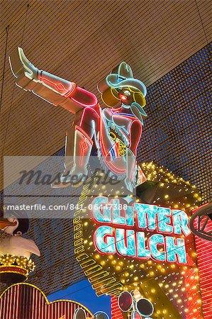 Glitter Gulch Casino et Fremont Street Experience, Las Vegas, Nevada, États-Unis d'Amérique, l'Amérique du Nord