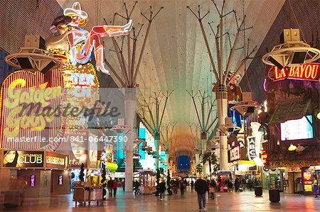 Fremont Street expérience, Las Vegas, Nevada, États-Unis d'Amérique, l'Amérique du Nord