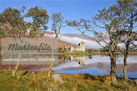 Ruins of Kilchurn Castle on Loch Awe, Argyll and Bute, Scotland, United Kingdom, Europe