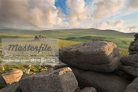 Vista towards Yes Tor from Belstone Ridge, Dartmoor, Devon, England, United Kingdom, Europe