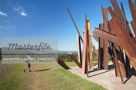 Modern art by Chris Burden at Centro de Arte Contemporanea Inhotim, Brumadinho, Belo Horizonte, Minas Gerais, Brazil, South America