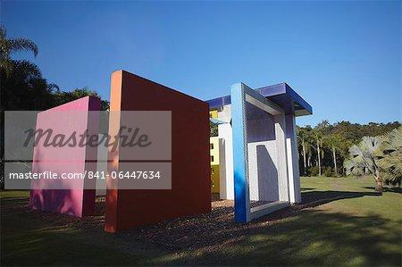 Modern art by Helio Oiticica at Centro de Arte Contemporanea Inhotim, Brumadinho, Belo Horizonte, Minas Gerais, Brazil, South America