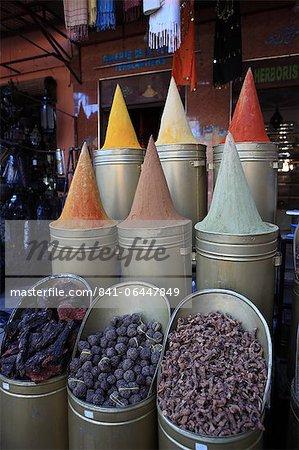 Spice shop, Marrakech, Maroc, l'Afrique du Nord, Afrique