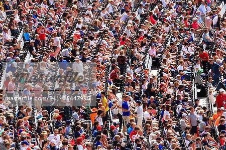 Grande foule de spectateurs dans une sports arena, Londres, Royaume-Uni, Europe