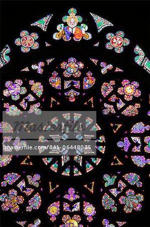 Fenêtre, Prague, République tchèque, l'Europe a augmenté Cathedral de St. Vitus