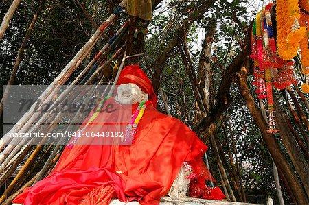 Guard temple in Lampang Louang temple, Lampang, Thailand, Southeast Asia, Asia