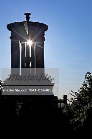 Dugald Stewart Monument au soleil d'été, Calton Hill, Edinburgh, Ecosse, Royaume-Uni, Europe