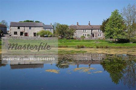 Village pond, Monyash, Peak District, Derbyshire, England, United Kingdom, Europe