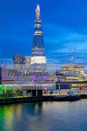 The Shard from City of London, London, England, United Kingdom, Europe