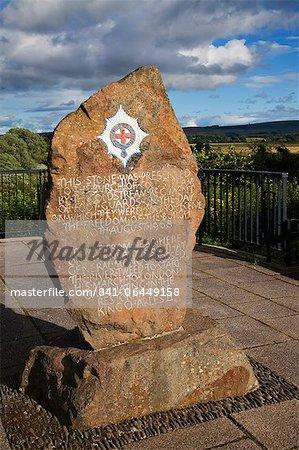 Coldstream Guards Monument dans le parc de Henderson, Coldstream, Scottish Borders, Ecosse, Royaume-Uni, Europe