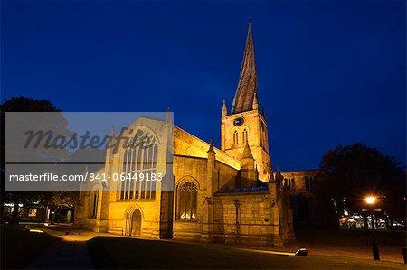 La Crooked Spire à l'église paroissiale de Sainte-Marie et tous les Saints, Chesterfield, Derbyshire, Angleterre, Royaume-Uni, Europe