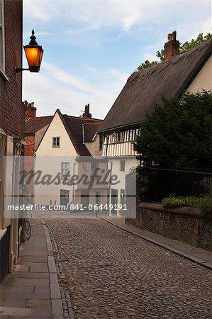 Elm Hill, Norwich, Norfolk, Angleterre, Royaume-Uni, Europe
